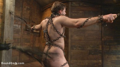 Photo number 12 from New Dom Pushes his Slave to the Limit shot for Bound Gods on Kink.com. Featuring Vinnie Stefano and Doug Acre in hardcore BDSM & Fetish porn.