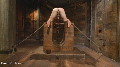Photo number 7 from New Dom Pushes his Slave to the Limit shot for Bound Gods on Kink.com. Featuring Vinnie Stefano and Doug Acre in hardcore BDSM & Fetish porn.