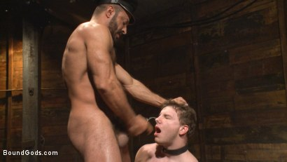 Photo number 9 from New Dom Pushes his Slave to the Limit shot for Bound Gods on Kink.com. Featuring Vinnie Stefano and Doug Acre in hardcore BDSM & Fetish porn.