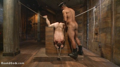 Photo number 13 from New Dom Pushes his Slave to the Limit shot for Bound Gods on Kink.com. Featuring Vinnie Stefano and Doug Acre in hardcore BDSM & Fetish porn.