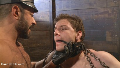 Photo number 3 from New Dom Pushes his Slave to the Limit shot for Bound Gods on Kink.com. Featuring Vinnie Stefano and Doug Acre in hardcore BDSM & Fetish porn.