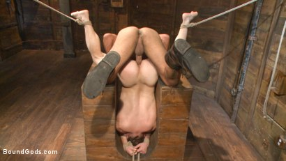 Photo number 8 from New Dom Pushes his Slave to the Limit shot for Bound Gods on Kink.com. Featuring Vinnie Stefano and Doug Acre in hardcore BDSM & Fetish porn.