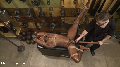 Photo number 12 from Hung KinkMen PA Explores the Bondage Wall and Gets Edged shot for Men On Edge on Kink.com. Featuring Osiris Blade in hardcore BDSM & Fetish porn.
