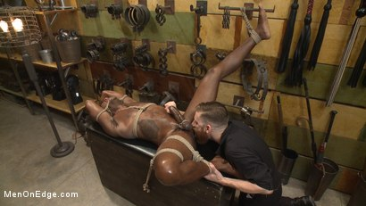 Photo number 13 from Hung KinkMen PA Explores the Bondage Wall and Gets Edged shot for Men On Edge on Kink.com. Featuring Osiris Blade in hardcore BDSM & Fetish porn.
