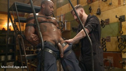 Photo number 2 from Hung KinkMen PA Explores the Bondage Wall and Gets Edged shot for Men On Edge on Kink.com. Featuring Osiris Blade in hardcore BDSM & Fetish porn.