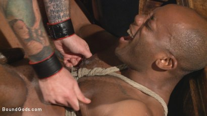 "Photo number 4 from Marine With a 10"" Cock Taken to the Limits of Torment shot for Bound Gods on Kink.com. Featuring Christian Wilde and Osiris Blade in hardcore BDSM & Fetish porn."