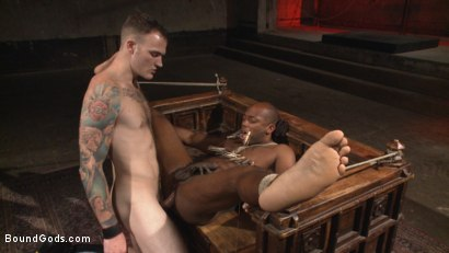 "Photo number 5 from Marine With a 10"" Cock Taken to the Limits of Torment shot for Bound Gods on Kink.com. Featuring Christian Wilde and Osiris Blade in hardcore BDSM & Fetish porn."