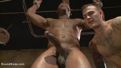 "Photo number 11 from Marine With a 10"" Cock Taken to the Limits of Torment shot for Bound Gods on Kink.com. Featuring Christian Wilde and Osiris Blade in hardcore BDSM & Fetish porn."