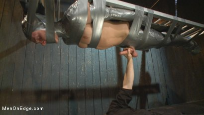Photo number 9 from Straight Duct Tape Hostage Edged shot for Men On Edge on Kink.com. Featuring Zane Anders in hardcore BDSM & Fetish porn.