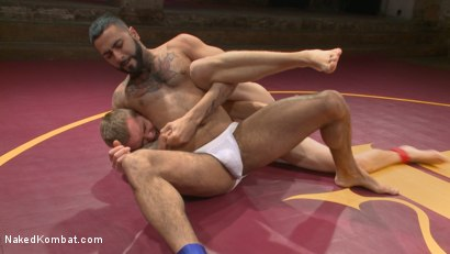 Photo number 7 from Zane Anders vs Rikk York shot for Naked Kombat on Kink.com. Featuring Rikk York and Zane Anders in hardcore BDSM & Fetish porn.