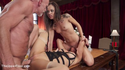 Photo number 19 from Black Mailed: Step-Mother & Daughter Sexually Punished shot for The Upper Floor on Kink.com. Featuring Cherie Deville, Holly Hendrix and Mark Davis in hardcore BDSM & Fetish porn.