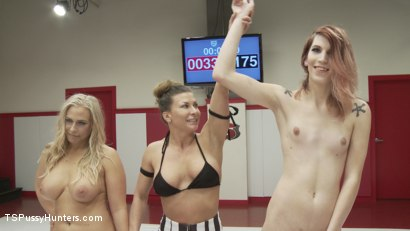 Photo number 9 from TS Freya Wynn takes on Voluptuous Angel Allood for a sex fight shot for TS Pussy Hunters on Kink.com. Featuring Freya Wynn and Angel Allwood in hardcore BDSM & Fetish porn.