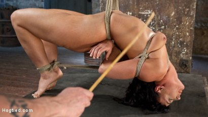 Photo number 12 from Pain Slut Begs for Penance shot for Hogtied on Kink.com. Featuring London River in hardcore BDSM & Fetish porn.
