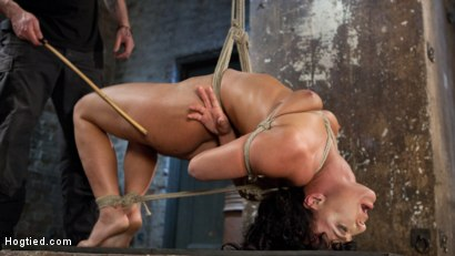 Photo number 10 from Pain Slut Begs for Penance shot for Hogtied on Kink.com. Featuring London River in hardcore BDSM & Fetish porn.