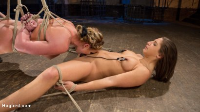 Photo number 9 from Phoenix Marie and Abella Danger Helpless in Bondage, Tormented and Made to Cum!! shot for Hogtied on Kink.com. Featuring Phoenix Marie, Abella Danger and The Pope in hardcore BDSM & Fetish porn.