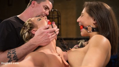 Photo number 5 from Phoenix Marie and Abella Danger Helpless in Bondage, Tormented and Made to Cum!! shot for Hogtied on Kink.com. Featuring Phoenix Marie, Abella Danger and The Pope in hardcore BDSM & Fetish porn.