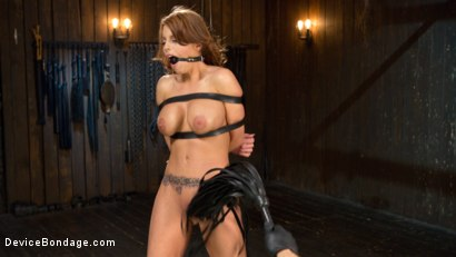 Photo number 14 from Bit Tits in Big Trouble shot for Device Bondage on Kink.com. Featuring Britney Amber and The Pope in hardcore BDSM & Fetish porn.