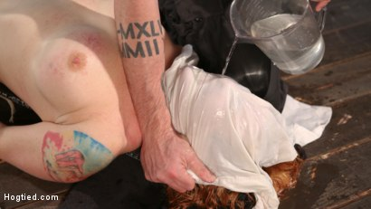 Photo number 11 from WARNING!!! EXTREME TORMENT, WATER BOARDING, AND BRUTAL BONDAGE shot for hogtied on Kink.com. Featuring Sophia Locke and The Pope in hardcore BDSM & Fetish porn.