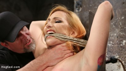 Photo number 2 from WARNING!!! EXTREME TORMENT, WATER BOARDING, AND BRUTAL BONDAGE shot for Hogtied on Kink.com. Featuring Sophia Locke and The Pope in hardcore BDSM & Fetish porn.