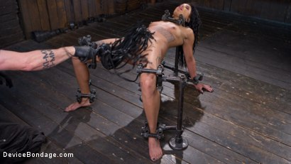 Photo number 10 from Alt Ebony Pain Slut Tormented and Made to Have Squirting Orgasms shot for Device Bondage on Kink.com. Featuring Jessica Creepshow and The Pope in hardcore BDSM & Fetish porn.