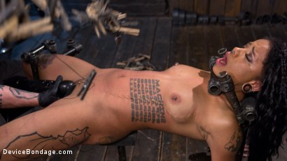 Photo number 13 from Alt Ebony Pain Slut Tormented and Made to Have Squirting Orgasms shot for Device Bondage on Kink.com. Featuring Jessica Creepshow and The Pope in hardcore BDSM & Fetish porn.