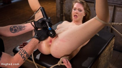 Photo number 12 from All Natural Girl Next Door is Destroyed in Brutal Bondage shot for Hogtied on Kink.com. Featuring Ashley Lane and The Pope in hardcore BDSM & Fetish porn.