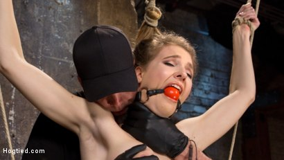 Photo number 16 from All Natural Girl Next Door is Destroyed in Brutal Bondage shot for Hogtied on Kink.com. Featuring Ashley Lane and The Pope in hardcore BDSM & Fetish porn.