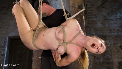 Photo number 9 from All Natural Girl Next Door is Destroyed in Brutal Bondage shot for Hogtied on Kink.com. Featuring Ashley Lane and The Pope in hardcore BDSM & Fetish porn.