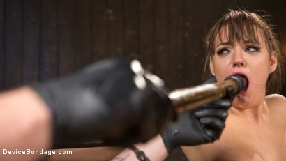 Photo number 8 from Big Tit Brat Gets Diabolic Discipline  shot for Device Bondage on Kink.com. Featuring Charlotte Cross and The Pope in hardcore BDSM & Fetish porn.