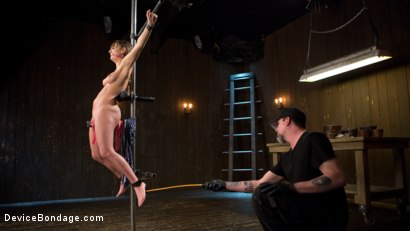 Photo number 5 from Big Tit Brat Gets Diabolic Discipline  shot for Device Bondage on Kink.com. Featuring Charlotte Cross and The Pope in hardcore BDSM & Fetish porn.
