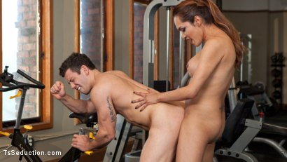 Photo number 7 from Gym Bunny Gives Horny Voyeur What He Deserves shot for TS Seduction on Kink.com. Featuring Reed Jameson and Jessica Fox in hardcore BDSM & Fetish porn.