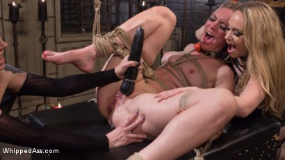 Photo number 15 from Maitresse Madeline and Aiden Starr haze, domme and fuck Mona Wales! shot for Whipped Ass on Kink.com. Featuring Maitresse Madeline Marlowe , Aiden Starr and Mona Wales in hardcore BDSM & Fetish porn.