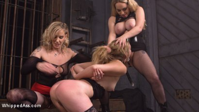 Photo number 4 from Maitresse Madeline and Aiden Starr haze, domme and fuck Mona Wales! shot for Whipped Ass on Kink.com. Featuring Maitresse Madeline Marlowe , Aiden Starr and Mona Wales in hardcore BDSM & Fetish porn.