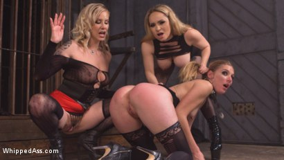 Photo number 5 from Maitresse Madeline and Aiden Starr haze, domme and fuck Mona Wales! shot for Whipped Ass on Kink.com. Featuring Maitresse Madeline Marlowe , Aiden Starr and Mona Wales in hardcore BDSM & Fetish porn.