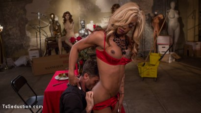 Photo number 5 from A Magical TS Valentine shot for TS Seduction on Kink.com. Featuring Salina Samone  and Lance Hart in hardcore BDSM & Fetish porn.