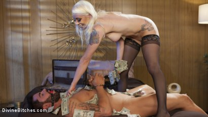 Photo number 15 from Lucky Sap Wins a Night at the Money Motel. Part 2  shot for Divine Bitches on Kink.com. Featuring Lorelei Lee and Jake Wilder in hardcore BDSM & Fetish porn.