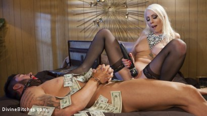 Photo number 16 from Lucky Sap Wins a Night at the Money Motel. Part 2  shot for Divine Bitches on Kink.com. Featuring Lorelei Lee and Jake Wilder in hardcore BDSM & Fetish porn.