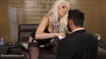 Photo number 1 from Lucky Sap Wins a Night at the Money Motel. Part 2  shot for Divine Bitches on Kink.com. Featuring Lorelei Lee and Jake Wilder in hardcore BDSM & Fetish porn.