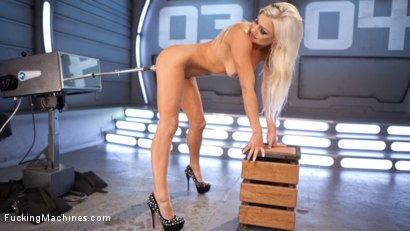 Photo number 4 from All Natural Blonde Bomb Shell Does Anal and Screams for More!!! shot for Fucking Machines on Kink.com. Featuring Cameron Dee in hardcore BDSM & Fetish porn.