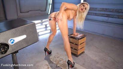 Photo number 6 from All Natural Blonde Bomb Shell Does Anal and Screams for More!!! shot for Fucking Machines on Kink.com. Featuring Cameron Dee in hardcore BDSM & Fetish porn.