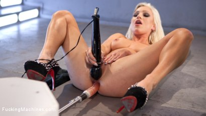 Photo number 7 from All Natural Blonde Bomb Shell Does Anal and Screams for More!!! shot for Fucking Machines on Kink.com. Featuring Cameron Dee in hardcore BDSM & Fetish porn.