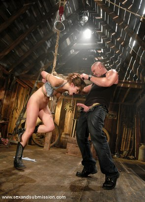 Photo number 4 from Bobbi Starr shot for Sex And Submission on Kink.com. Featuring Mark Davis and Bobbi Starr in hardcore BDSM & Fetish porn.
