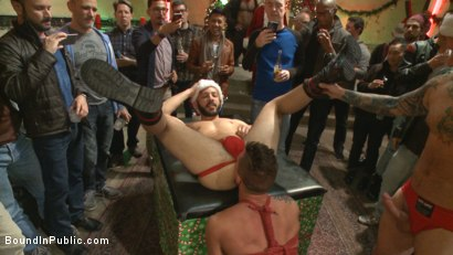 Photo number 4 from Muscled submissive whored out by santa for the holidays shot for Bound in Public on Kink.com. Featuring Rex Cameron, Vinnie Stefano and Connor Maguire in hardcore BDSM & Fetish porn.