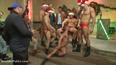 Photo number 13 from Stuffing the holiday whore shot for Bound in Public on Kink.com. Featuring Rex Cameron, Vinnie Stefano and Connor Maguire in hardcore BDSM & Fetish porn.