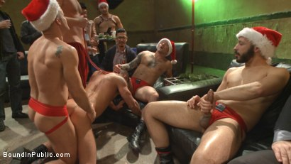 Photo number 3 from Stuffing the holiday whore shot for Bound in Public on Kink.com. Featuring Rex Cameron, Vinnie Stefano and Connor Maguire in hardcore BDSM & Fetish porn.