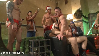 Photo number 6 from Stuffing the holiday whore shot for Bound in Public on Kink.com. Featuring Rex Cameron, Vinnie Stefano and Connor Maguire in hardcore BDSM & Fetish porn.