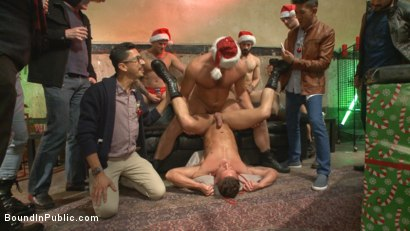 Photo number 7 from Stuffing the holiday whore shot for Bound in Public on Kink.com. Featuring Rex Cameron, Vinnie Stefano and Connor Maguire in hardcore BDSM & Fetish porn.