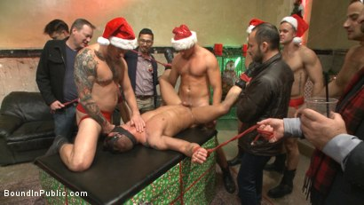 Photo number 10 from Stuffing the holiday whore shot for Bound in Public on Kink.com. Featuring Rex Cameron, Vinnie Stefano and Connor Maguire in hardcore BDSM & Fetish porn.