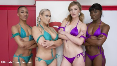 Photo number 1 from 4 sexy wrestlers fight in 100% competitive erotic wrestling tag match shot for Ultimate Surrender on Kink.com. Featuring Ana Foxxx, Nikki Darling, Angel Allwood and Mona Wales in hardcore BDSM & Fetish porn.