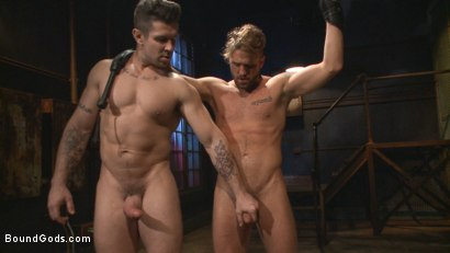 Photo number 14 from Captured Stud Mummified, Beaten, Fucked and Humiliated shot for Bound Gods on Kink.com. Featuring Trenton Ducati and Wesley Woods in hardcore BDSM & Fetish porn.